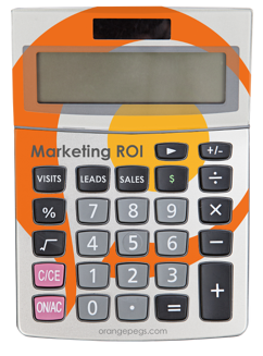 Come download the free marketing objectives calculator by Orange Pegs Media!