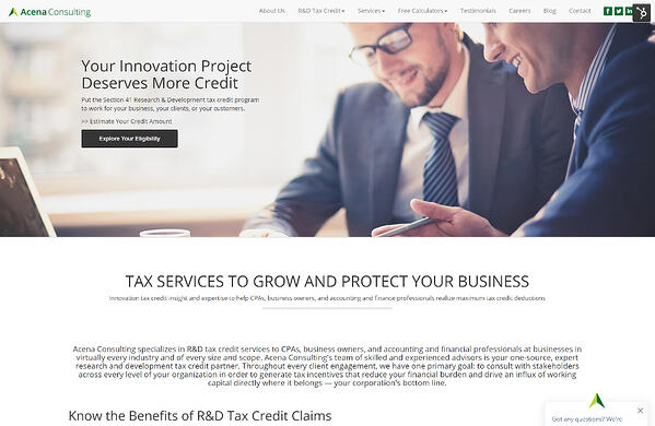 Website development for accounting