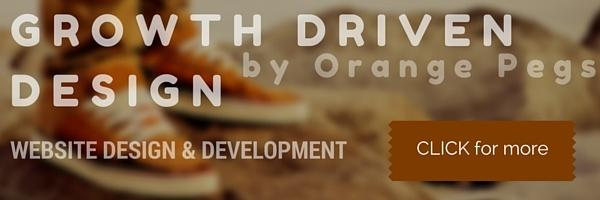 Growth Driven Design website services by Orange Pegs Media
